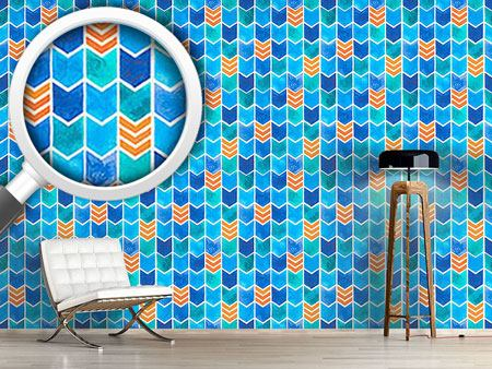 Design Wallpaper Water Color Zigzag