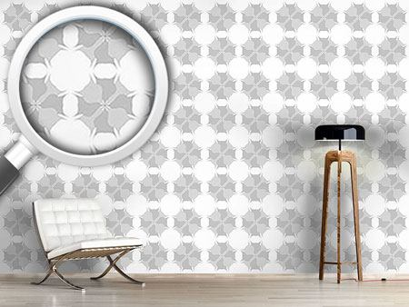 Design Wallpaper Pale Flowers