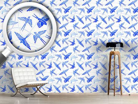 Design Wallpaper Swallows Flight