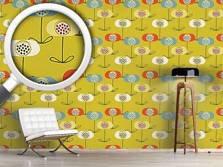 Design Wallpaper Retro Poppy