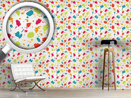 Design Wallpaper Colorful Blots