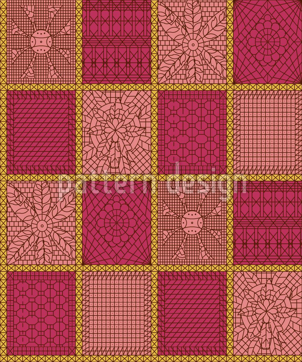 Design Wallpaper Crochet Patchwork