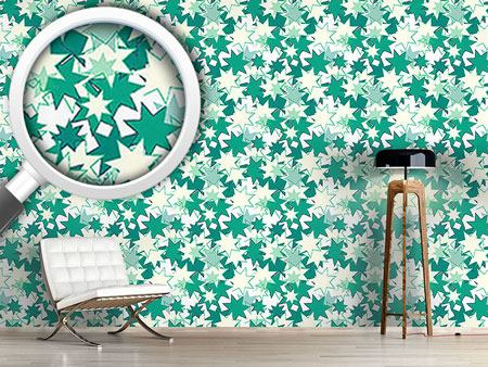 Design Wallpaper Wild Retro Stars