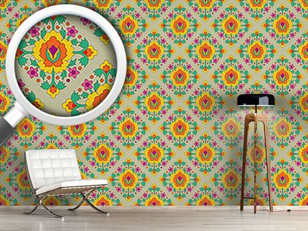 Design Wallpaper Medieval Flowers