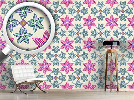 Design Wallpaper Symmetry And Flowers