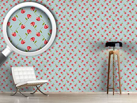 Design Wallpaper Tiny Roses