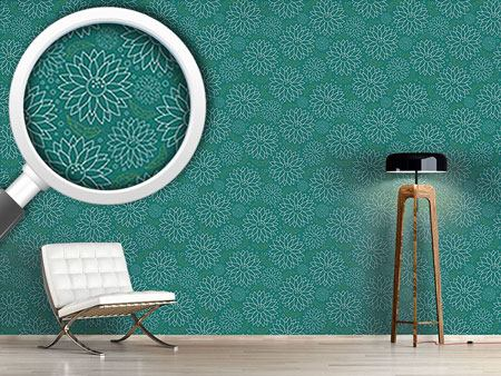 Design Wallpaper Blooming Flowers