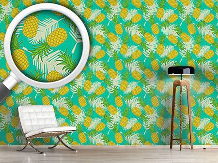 Papier peint design Pineapple Tropicana