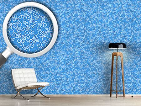 Design Wallpaper Curlicue With Flowers