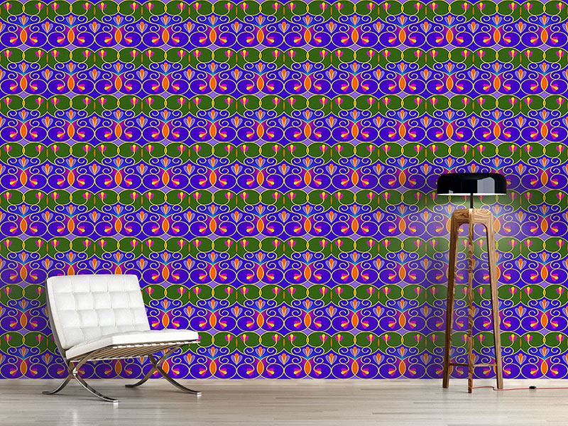 Design Wallpaper Swirls And Trellis