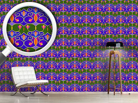 Papier peint design Swirls And Trellis