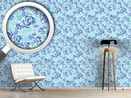 Design Wallpaper Rose Mosaic