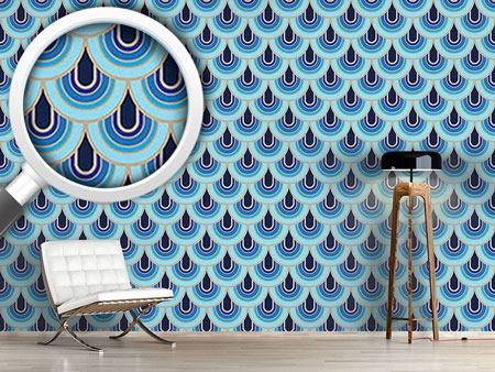 Design Wallpaper Retro Scales