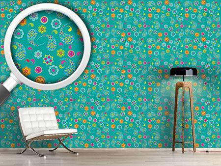 Design Wallpaper Paisley Bloom