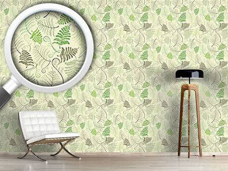 Design Wallpaper Fern Leaves
