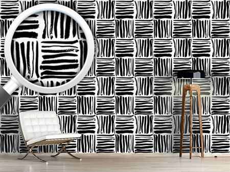 Design Wallpaper Painted Stripes