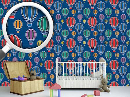 Design Wallpaper Ballooning By Night