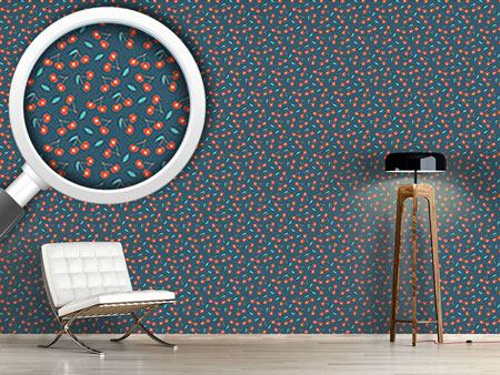 Design Wallpaper Night Cherry