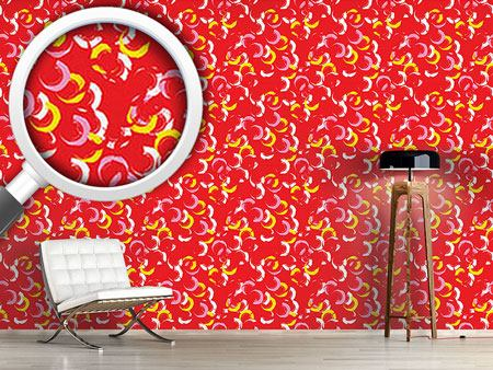 Papier peint design Brushed Scattered Circles