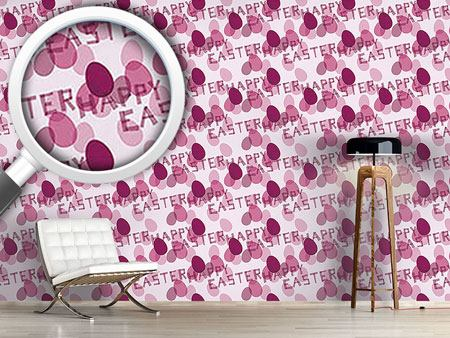 Design Wallpaper Happy Easter Lavender
