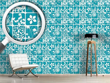 Design Wallpaper Flowers To The Square