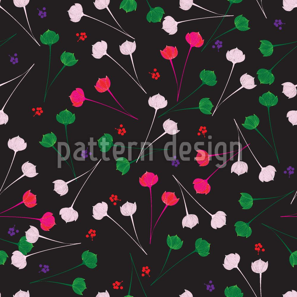 Papier peint design Delicate Flowers At Night