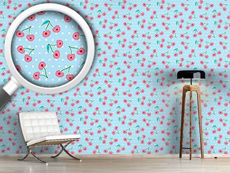 Design Wallpaper Sweet Cherries