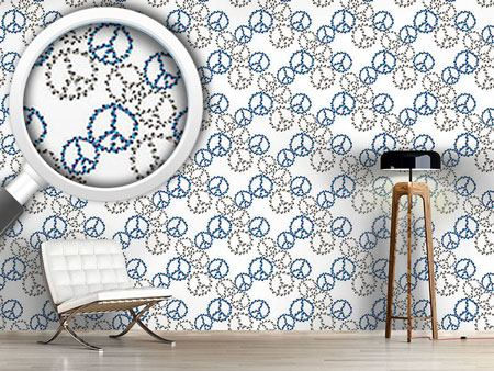 Design Wallpaper Peace Revival Blue