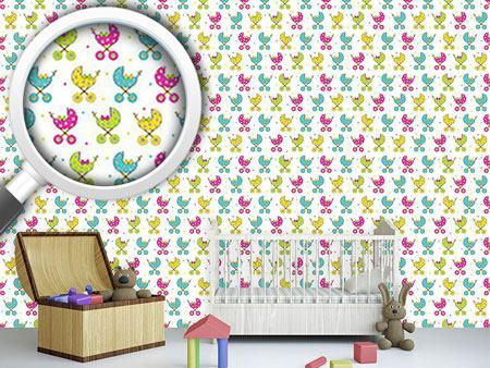 Design Wallpaper Baby Buggy Parade