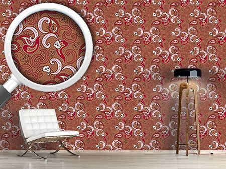 Design Wallpaper Rocking Orient Brown