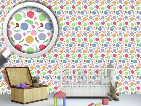 Design Wallpaper Kindergarten Flowers