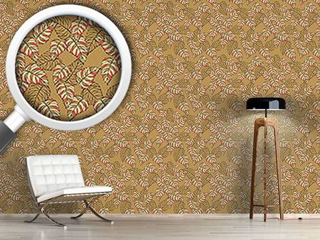 Design Wallpaper Birch Leaf Beige
