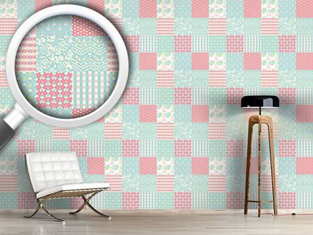 Design Wallpaper Patchwork Love