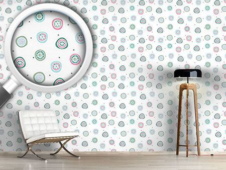 Design Wallpaper Flowers And Dots