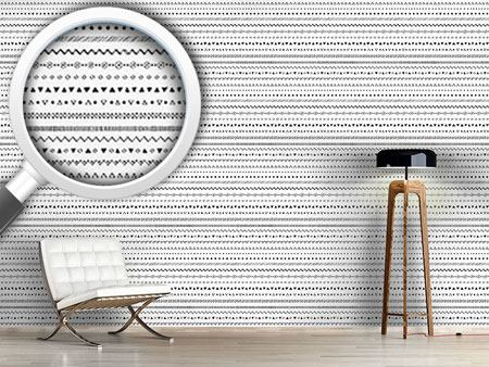 Design Wallpaper Striped Ethno