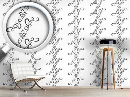 Design Wallpaper White Orient