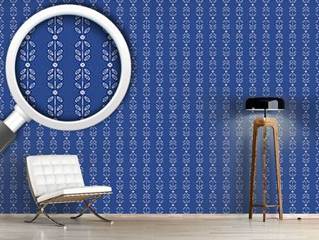 Design Wallpaper Blossom And Leaf Stripes