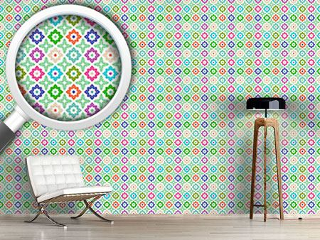 Design Wallpaper Arranged Flowers