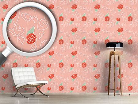 Design Wallpaper Nostalgic Rose Garden