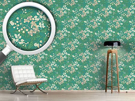 Design Wallpaper Bladder Campion And Clematis