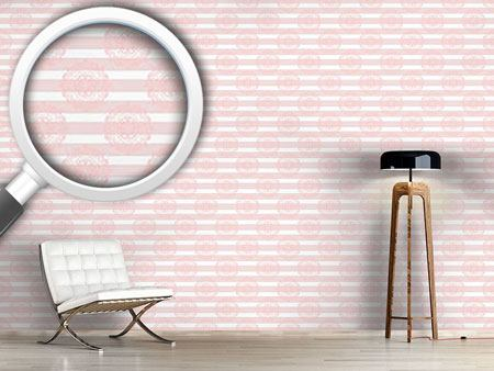 Design Wallpaper Lace And Stripes
