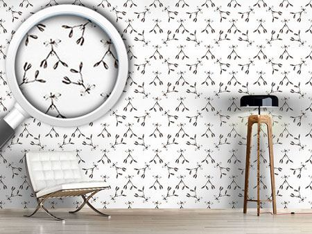 Design Wallpaper Vintage Mistletoe