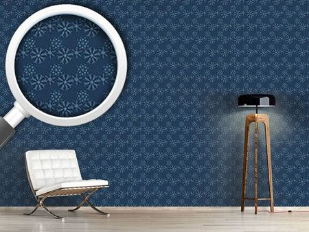 Design Wallpaper Snowflakes At Night