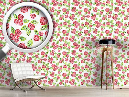 Design Wallpaper Mosaic Roses