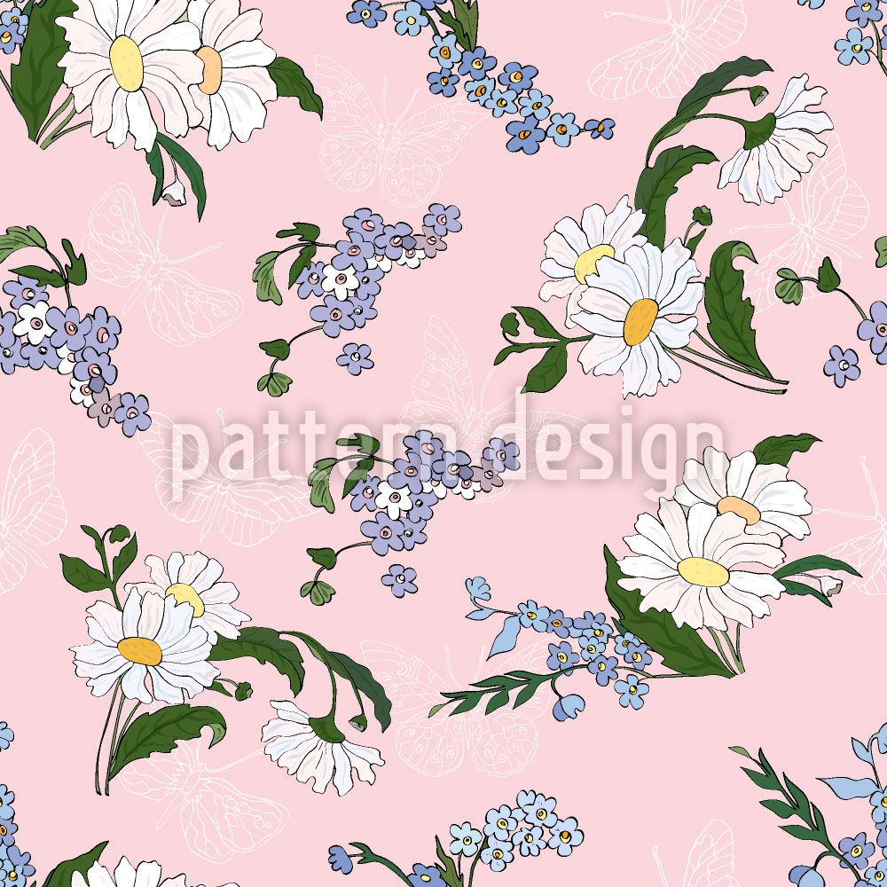 Design Wallpaper Daisies Friends