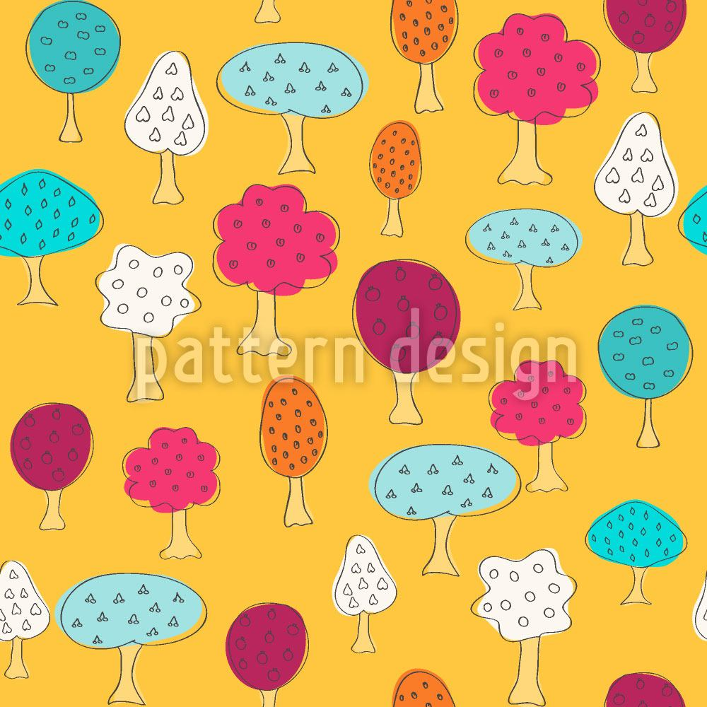 Design Wallpaper Magnificent Fruit Trees