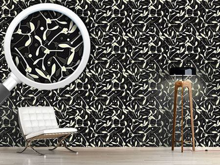Design Wallpaper Mistletoe Silhouettes