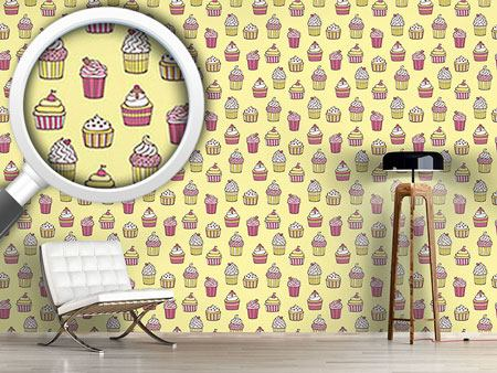 Design Wallpaper All Kinds Of Cupcakes