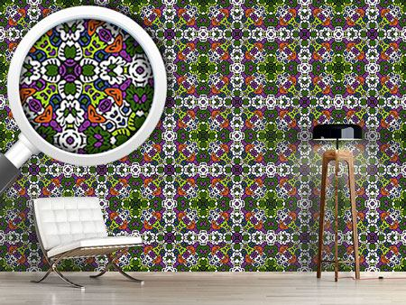 Design Wallpaper Tribal Kaleidoscope