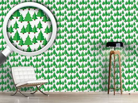 Design Wallpaper Fir Forest
